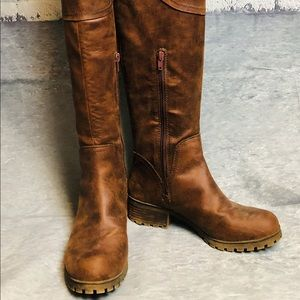 Lucky Brand Harleen Brown Tall Over The Knee Boots